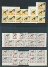 Birds British Colonies & Territories Stamp Blocks