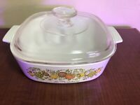 Corning Spice of Life 2qt Square Casserole Baking Dish A-2-B With Lid