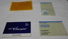 1998 HYUNDAI TIBURON OWNER'S MANUAL 4/PC.SET & CLEAR AMBER PLASTIC DEALER CASE