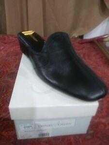 Daniel Green Womens Glamour Casual BLACK Leather Wedge Slide Slippers Shoes 10N