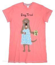 Hatley Women s ONE SIZE Sleepshirt DOG TIRED sleep pink night shirt PJ Pajamas