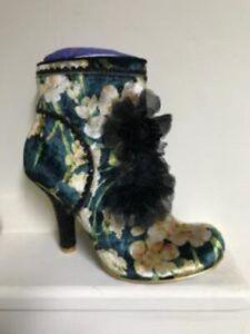 Irregular Choice queen velvet ankle boot