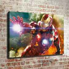 "12""x18""Iron Man in the explosion HD Canvas prints Painting Home decor Wall art"
