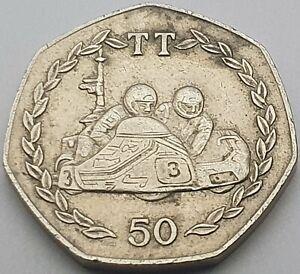 1984 Isle of Man Mick Boddice Sidecar TT 50p coin