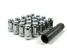 20 Pc Set Spline Tuner Lug Nuts 12x1.5 Chrome For Toyota 4Runner Camry