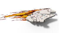 STAR WARS MILLENNIUM FALCON 3D DECO LIGHT + WALL STICKER / 38 CM