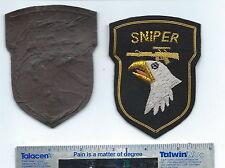 BULLION US ARMY PATCH  101ST DIV SNIPER