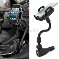 Dual 2 USB Car Cigarette Lighter Mount Holder Stand Charger for Mobile Phone