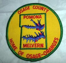 """Vtg Holiday Ramblers? 4"""" Patch Osage County Kansas Home of Osage Oranges Good"""