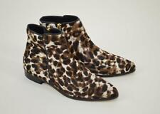 NEW $398 J. CREW COLLECTION CALF HAIR ANKLE BOOTS 8 SIENNA BLACK CAT E1188