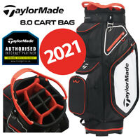 TaylorMade 8.0 14-WAY Divider Golf Cart Bag Black/White/Red - NEW! 2020