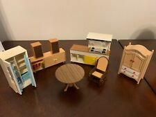 Vintage TOMY Dollhouse Round Dining Table and 4 Chairs