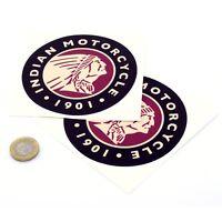 Indian Motorcycles Sticker Decal Vinyl Motorbike STICKERS 100mm x2