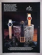 Rolex Cellini Watch PRINT AD - 1981 ~ watches, wristwatch
