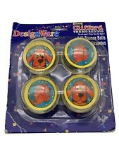 Vintage 2001 Clifford the Big Red Dog Hi Bounce Balls DesignWare Nos