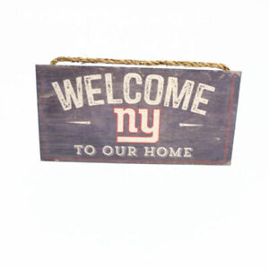 """NFL Welcome To Our Home New York Giants Wood Sign 12"""" x 6"""""""