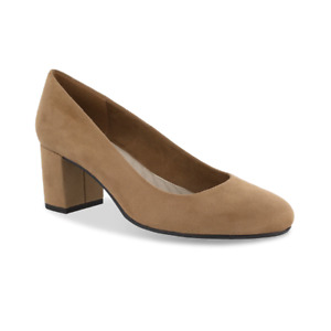 Easy Street Proper sand Block Heel Pump womens 8.5 Wide NIB