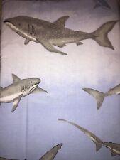 The Company Store Sharks Flat Twin Sheet Blue Gray Brand New
