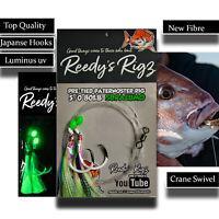 4x Snapper Fishing Rig Ultra Rigs Paternoster Rig UV Reedys Hooks 5/0 6/0 8/0