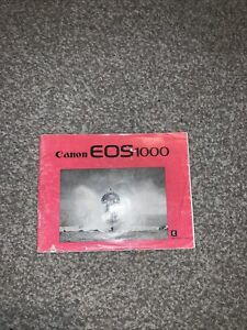 Original 1990 Canon EOS 1000 Instruction Manual VGC