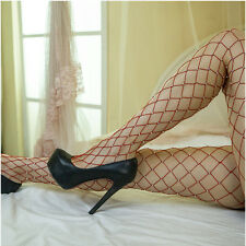 Women Elastic Crystal Rhinestone Fishnet Stockings Big Fish Net Tights Pantyhose