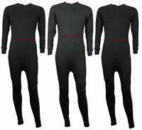 Mens All In One Baselayer Thermal Jumpsuit Playsuit Underwear BodySuit Zip up