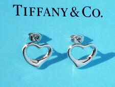 Tiffany & Co Argento Sterling Elsa Peretti 16mm Grande Cuore Aperto Orecchini