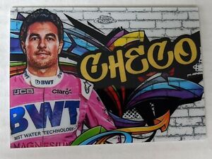 2020 Topps Chrome Formula 1 Track Tags #TT10 Sergio Perez Racing Point