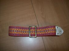 Groovy Vintage Guitar Strap 1960's or 1970's has Great Mojo & Vibe!! (#1)