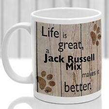 Jack Russell Mix dog mug,Jack Russell Mix dog gift, ideal present for dog lover