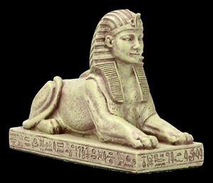 Altägyptische Figurine - Sphinx - Égypte Mythologie Chat Dekostatue