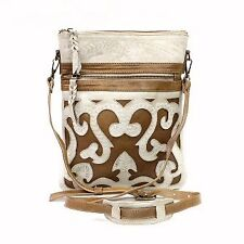 Leaders in Leather Bone Natural Crossbody Bag On Sale