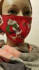 Gesichtsmaske Mund- Nasenabdeckung Maske Erwachsene Weihnachtsmann Rucksack rot