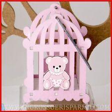 Bomboniere nascita bimba culla porta confetti orsetto rosa idee originali