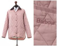 Women's BARBOUR Liddesdale Quilted Quilt Jacket Coat Pink Size UK 12 US 8