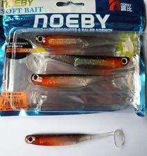 Noeby pêche leurre souple odorant Minnow 3D 11,5cm 5,4g black red