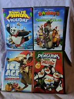 Animation Movies Holiday Specials DVD Lot Penguins Donkey Ice Age Kung Fu Panda