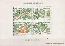 MONACO bloc neuf :les 4 saisons de l'oranger 1991  belle côte  52mBL10M