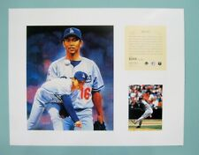 Hideo Nomo Los Angeles Dodgers 1995 MLB Baseball 11x14 Lithograph Print (rare)