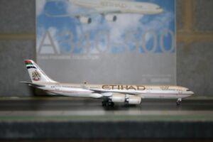 Dragon Wings 1:400 Etihad Airbus A340-500 A6-EHA (55981) Die-Cast Model Plane