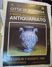 """POSTER """" MOSTRA MERCATO ANTIQUARIATO """" ALBENGA 1983 (MAN)"""