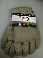 NWT Men's ISO Isotoner 100% Waterproof  Breathable Gloves Size M/L Tan