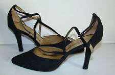 Fabulous YSL Yves Saint Laurent Black Peau de Soie T-Strap Heels Shoes 7 1/2