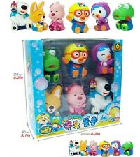 Pororo & Friends Character Toys (6pcs) - Water Gun Set Enjoy Bath Time