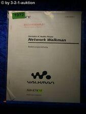 Sony Bedienungsanleitung NW E7 / E10 Network Walkman (#1972)