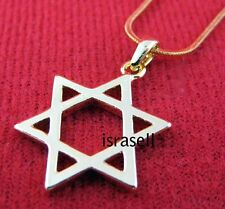 Gold Plated Star Of Magen David Necklace Israel pendant amulet gift