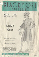 "1940s Vintage Sewing Pattern COAT B36""-S12 (4)"