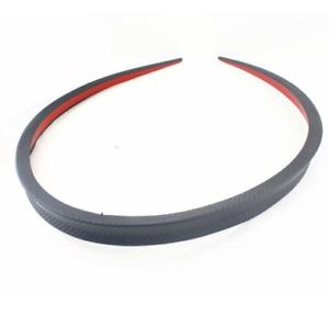 Car Rear Wing Lip Spoiler Tail Trunk Roof Trim Sticker Decor Carbon Fiber Look