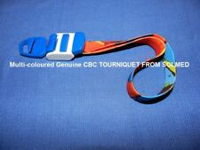 1 X CBC PREMIUM TOURNIQUET CLASSIC LATEX FREE MULTI COLOUR DESIGN