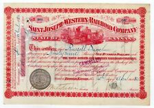 Russell Sage - Saint Joseph and Western Railroad Company Stock